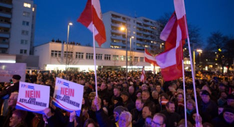 В Вене прошла демонстрации Партии Свободы против приема беженцев на территории Австрии